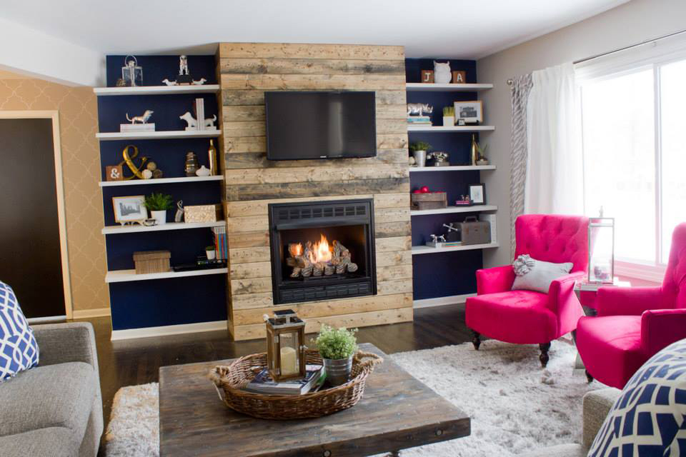 how to build a wood fireplace