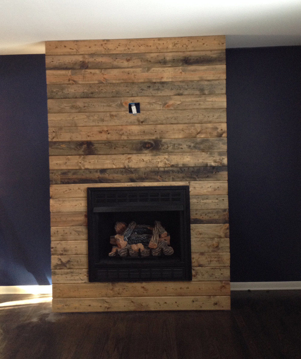Diy Reclaimed Wood Fireplace on beauty floor plans
