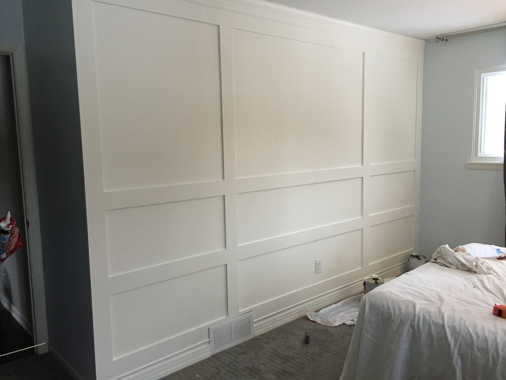 Wood Paneled Wall DIY