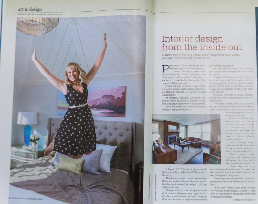 Grand rapids magazine features fuchsia design grand - Interior design jobs grand rapids mi ...