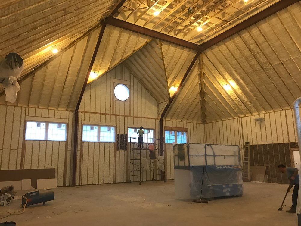 Insulation going in to the sports complex! February 2017