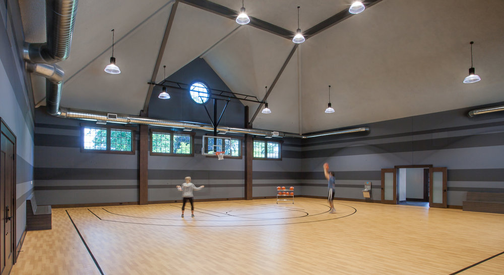 Indoor Basketball Court - Home House Gym