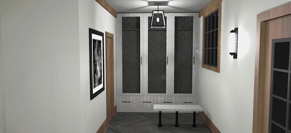 Vestibule Sketchup Concept Rendering #2