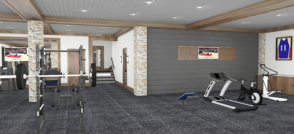 Initial Exercise Room Concept Rendering #2