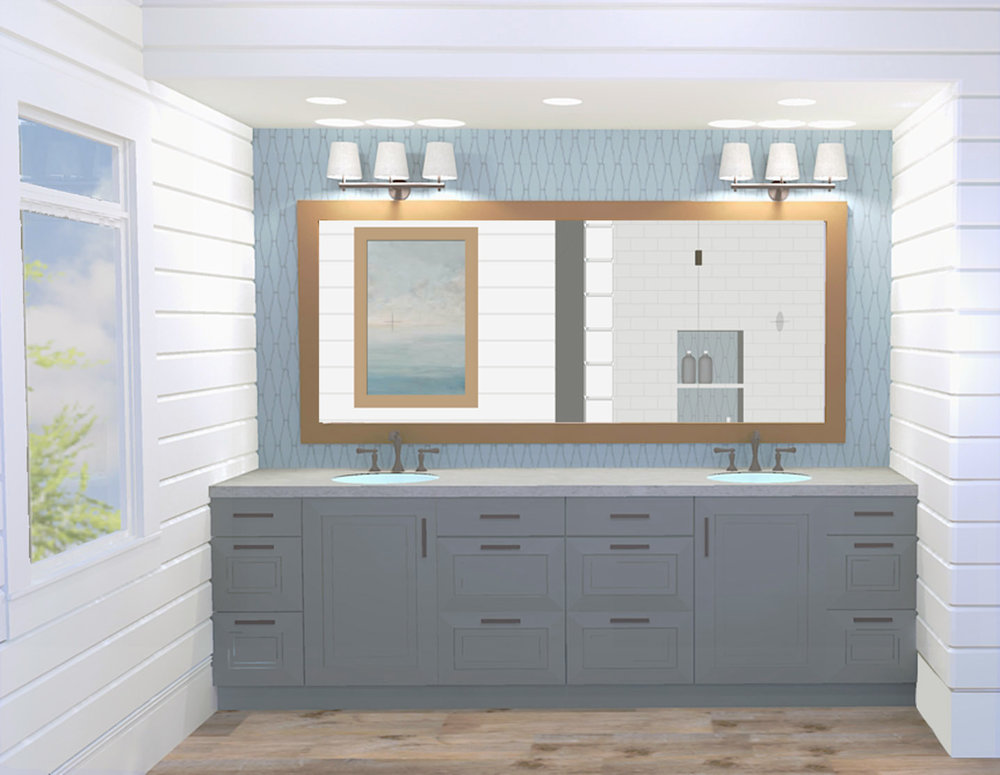 Master bathroom - concept rendering April 2016