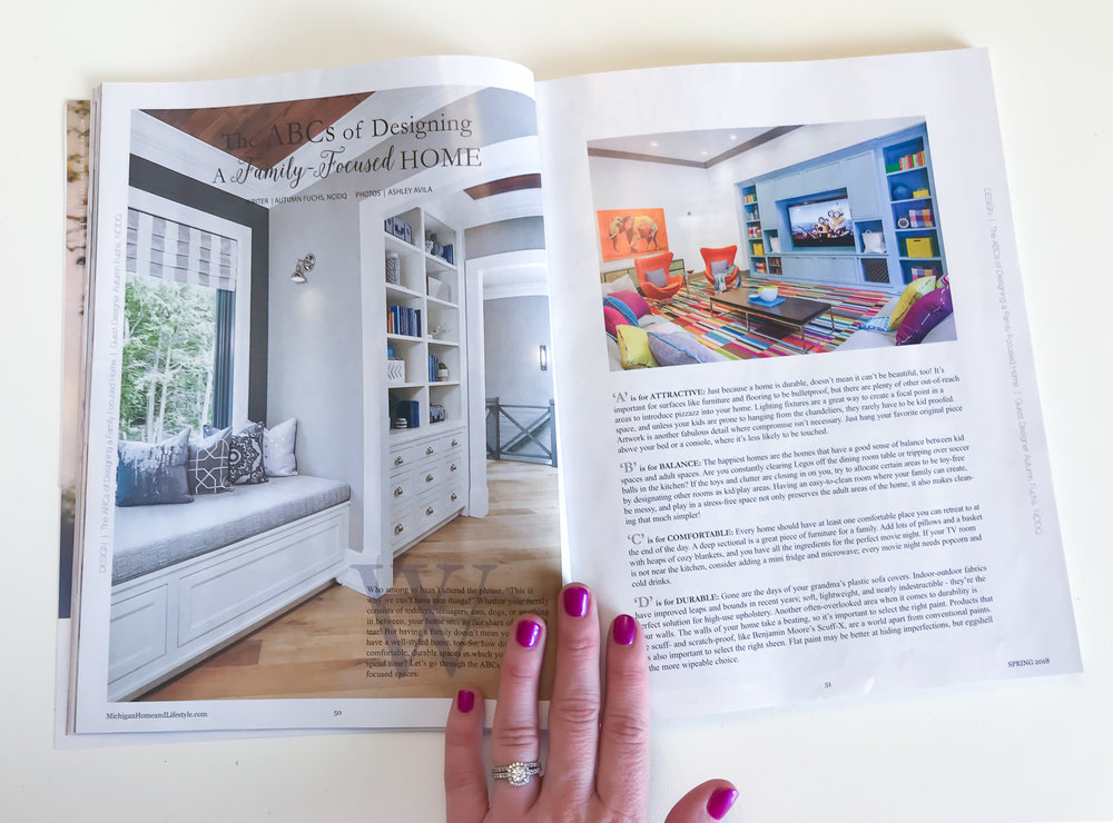 Fuchsia Design Featured in Michigan Home and Lifestyle Magazine - Grand Rapids, MI