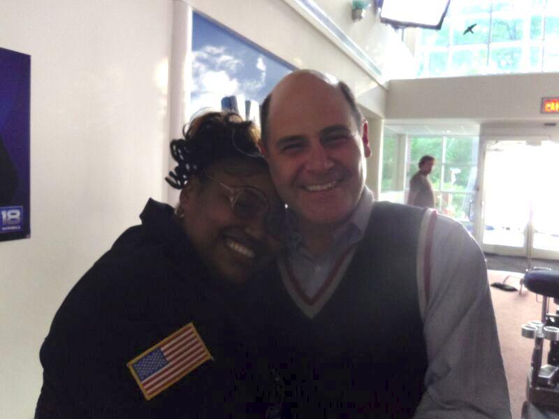 With Director Matthew Weiner