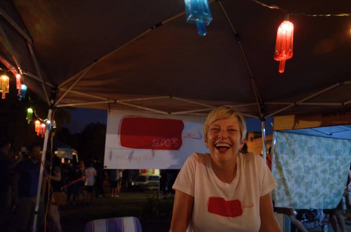 Jen at a night market in 2015 (c) St Pops 2016