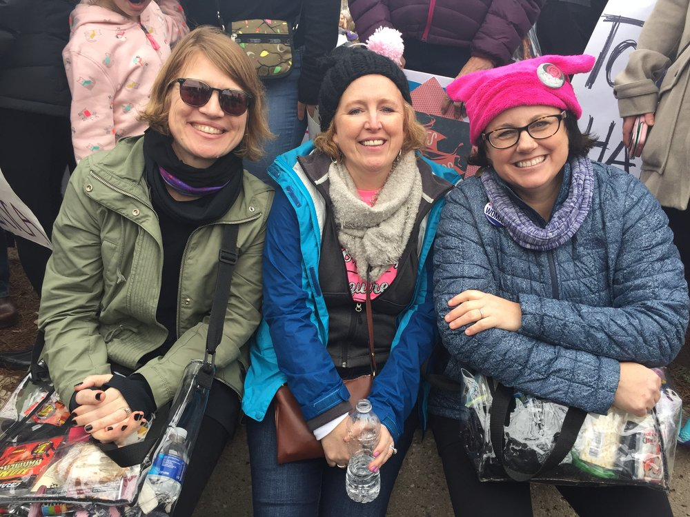 Stacy (middle) with fellow marchers.