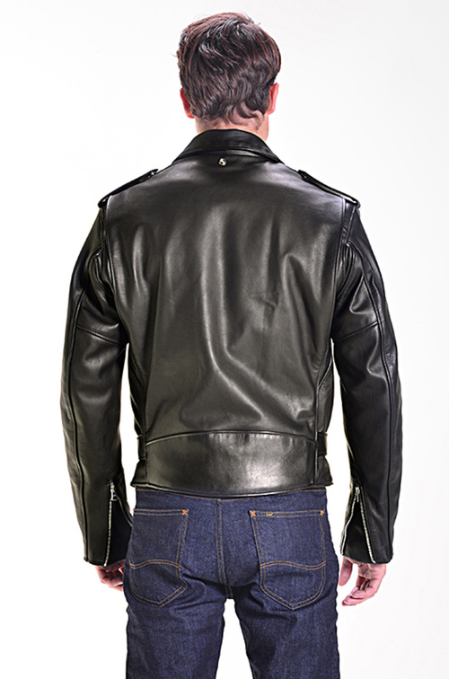 SCHOTT NYC Classic Perfecto Motorcycle Leather Jacket Black ...