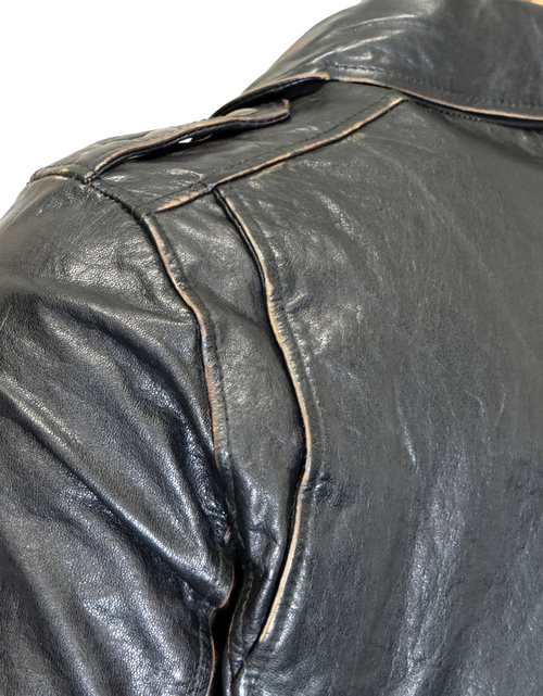 Levi S Men S Vintage Style Motorcycle Leather Jacket Zooloo