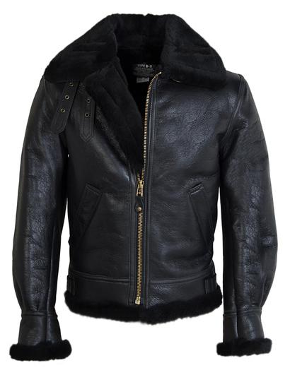 Schott NYC men's Classic B-3 Sheepskin Leather Bomber Jacket ...