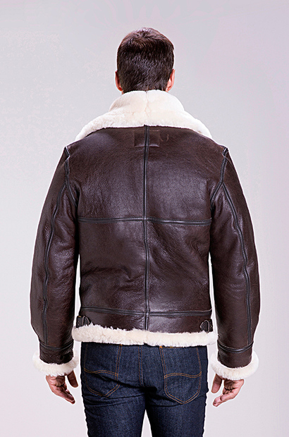 Schott NYC men's Classic B-3 Sheepskin Leather Bomber Jacket ...