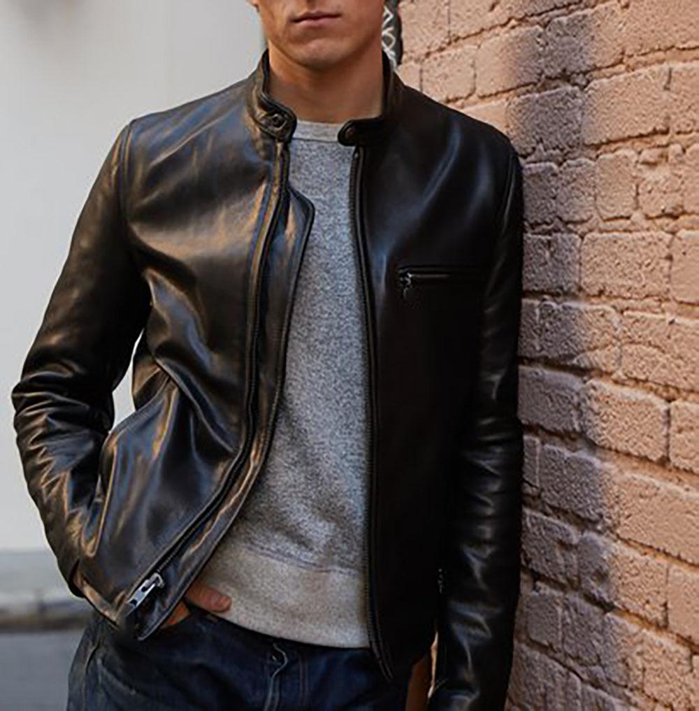 d3835c3e4 Mason & Cooper Cafe Racer Leather Jacket — Zooloo LeatherZooloo Leather