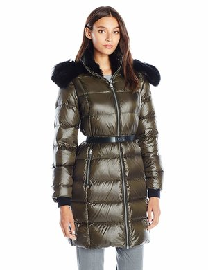 aa7e32c44f4 Andrew Marc Women's Down Coat with Leather ...