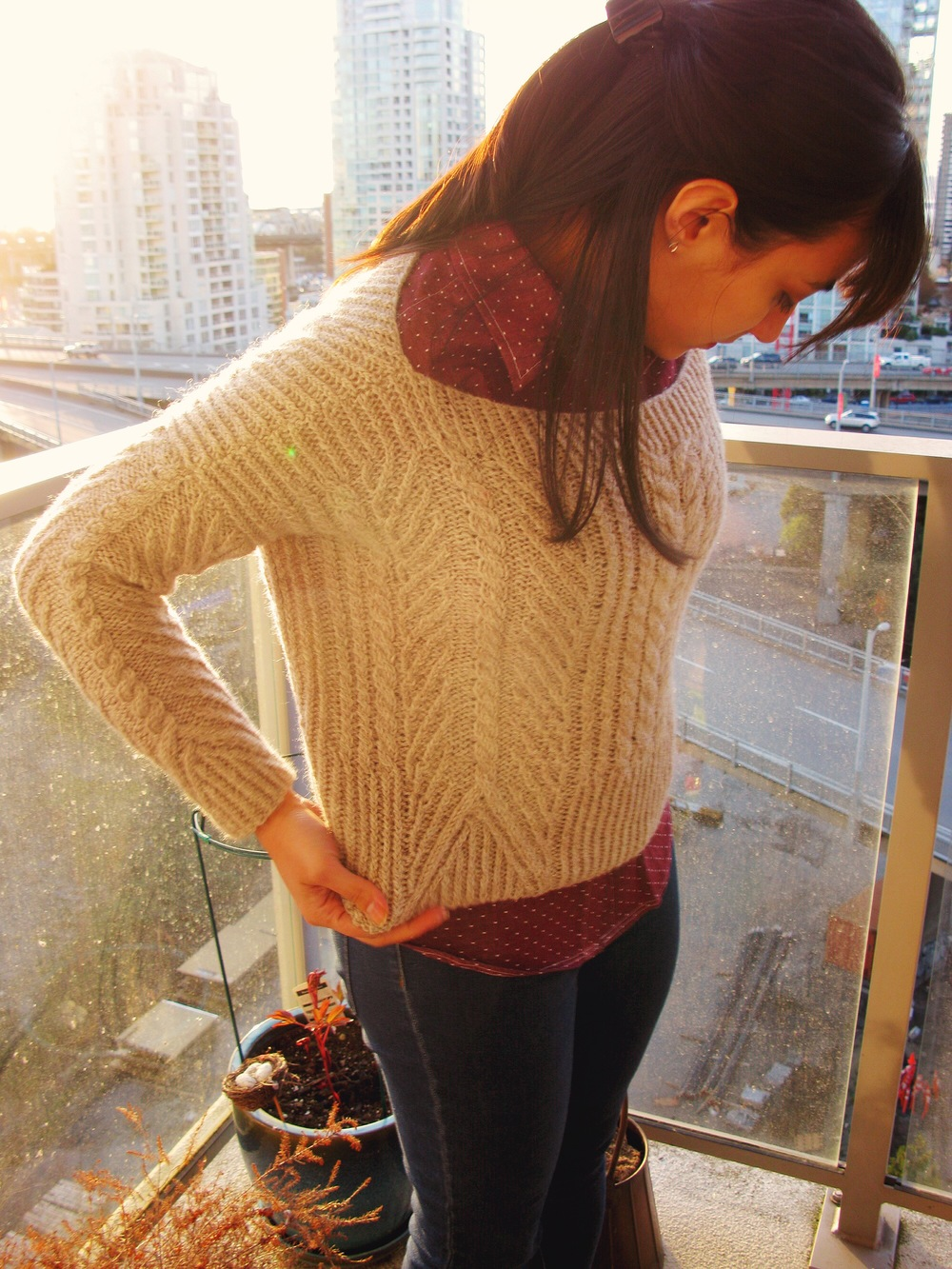 Ondawa Sweater and How to Knit Backwards — Becca Made That