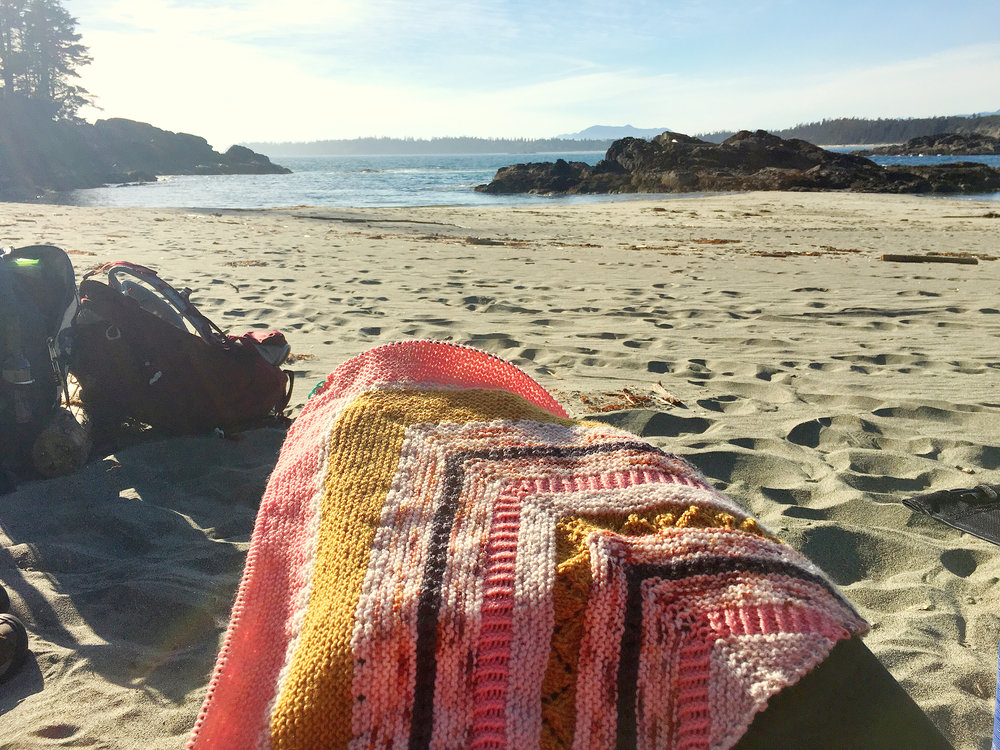 perfect beach knitting!
