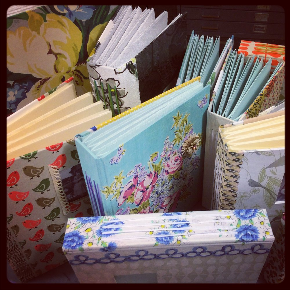 Blank Scrapbooks - My hand made blank books for any occasion are available for purchase at Blue Skies in Chattanooga, Tennessee!