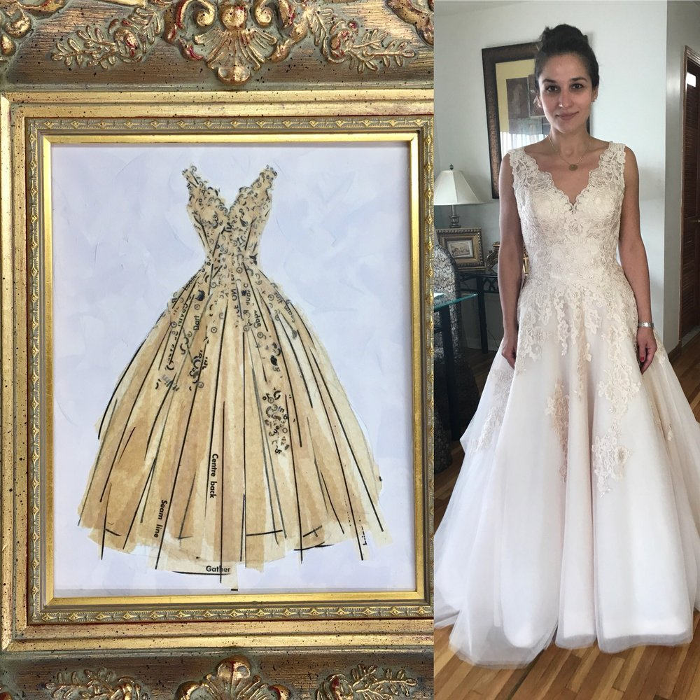 Wedding Day! - Her daughter's wedding dress