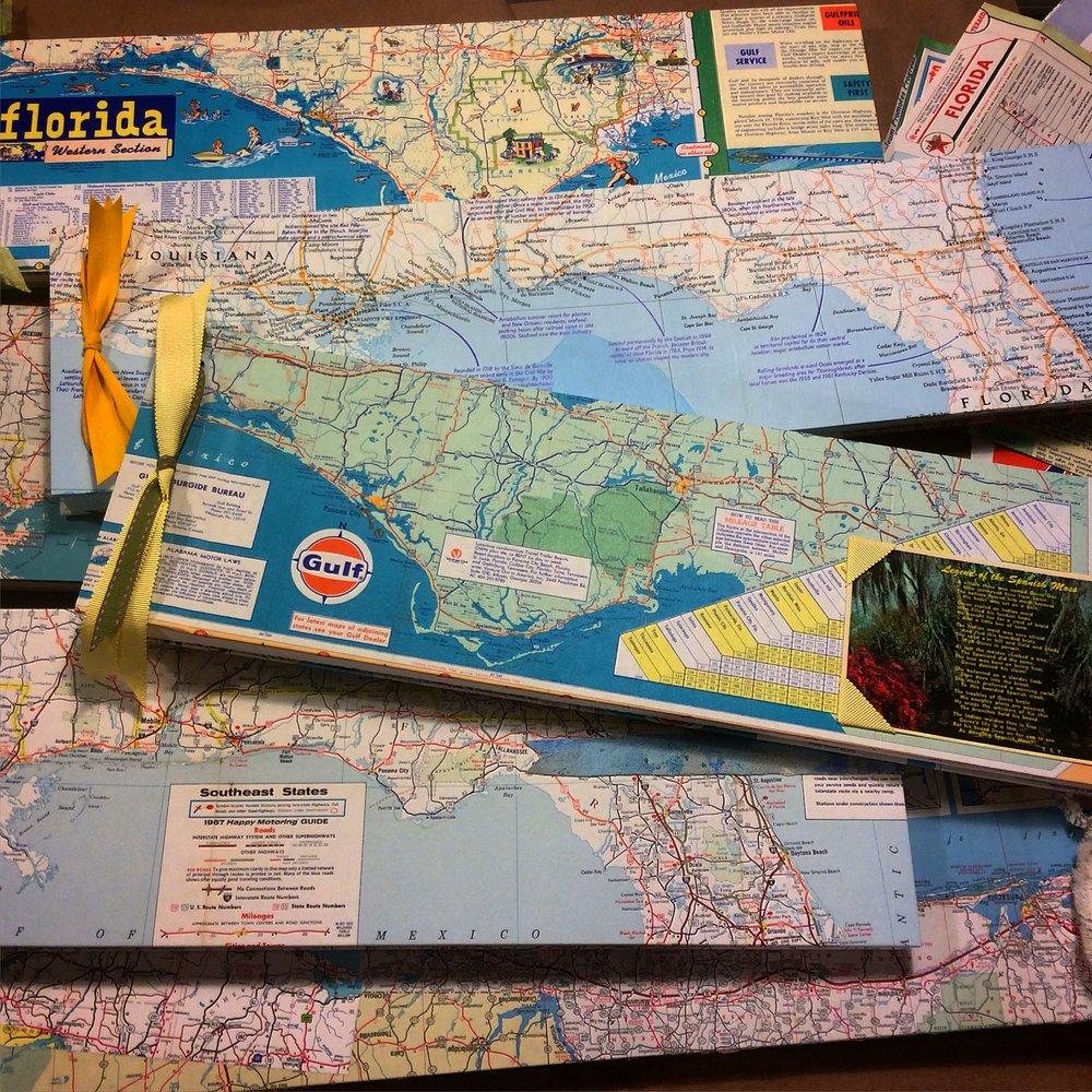 Joseph'sCottage - Custom scrapbooks from vintage road maps; Port St. Joe
