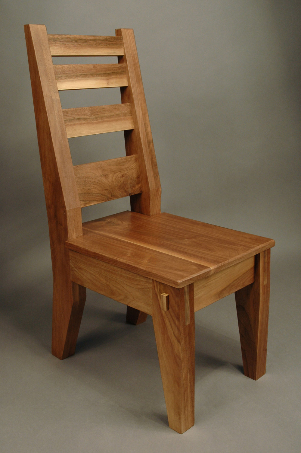 "8.         Assignment: Chair              Media: Wood                         Dimensions: 39""h x 26""w x 22""d"