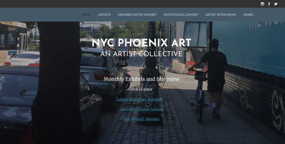 January 2018  My work is being highlighted for the month in an invitational exhibition hosted by NYC Phoenix Art in Chelsea:   http://www.phoenix-gallery.com/rob-millard-mendez.html