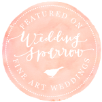 We are so honored to have been featured in Wedding Sparrow this year! click the badge for the full feature!