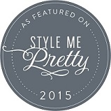 We have a feature in Style Me Pretty! Click the badge to check it out!