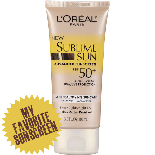 My favorite sunscreen: L'Oréal Paris Sublime Sun Advanced Sunscreen SPF 50+ Lotion