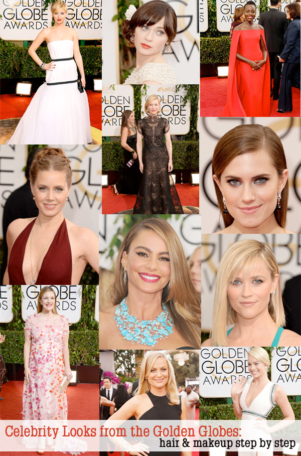 Celebrity Looks from the 2014 Golden Globes: If you want to recreate the hair or makeup from your favorite celebrities, I have the official beauty breakdowns!