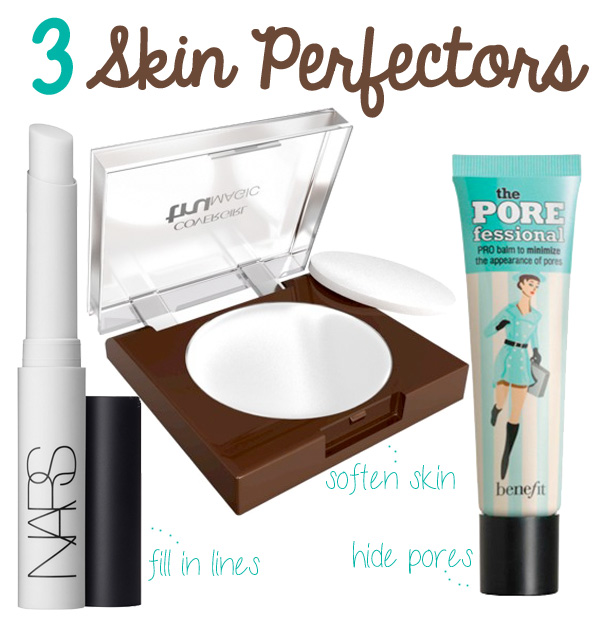 3 Skin Perfectors that soften skin, fill in lines and hide pores!