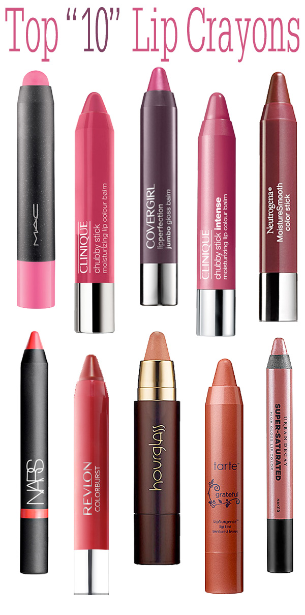Top 10 Lip Crayons