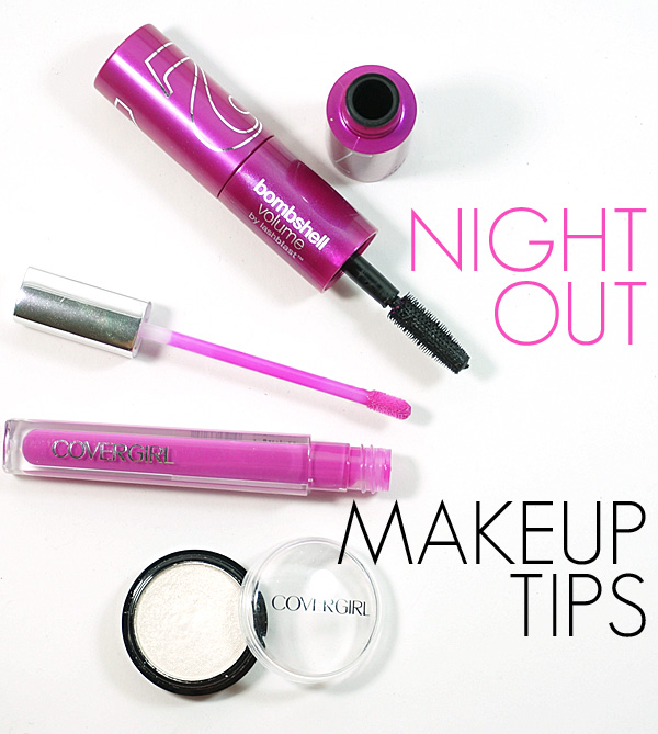 Makeup tips for getting ready for a night out fast!