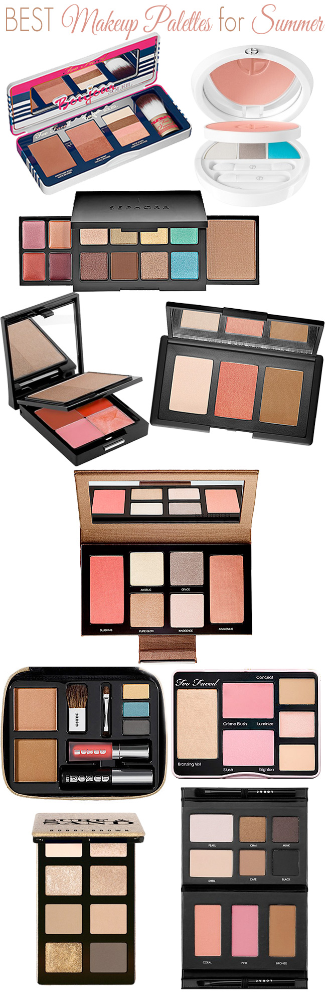 Best Makeup Palettes for Summer