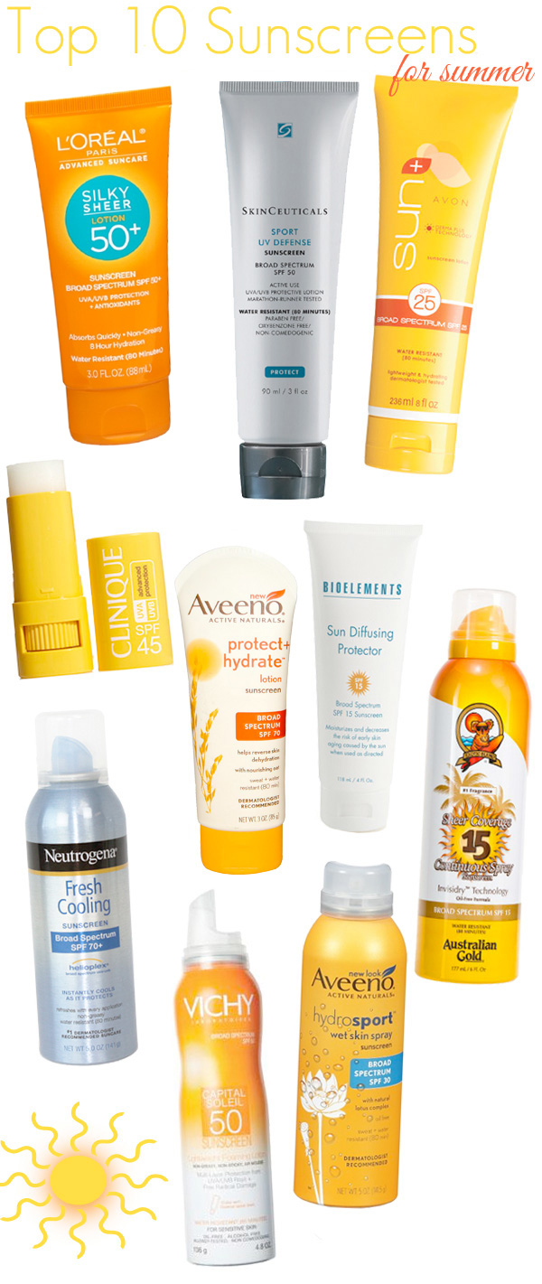 Top 10 Sunscreens for Summer