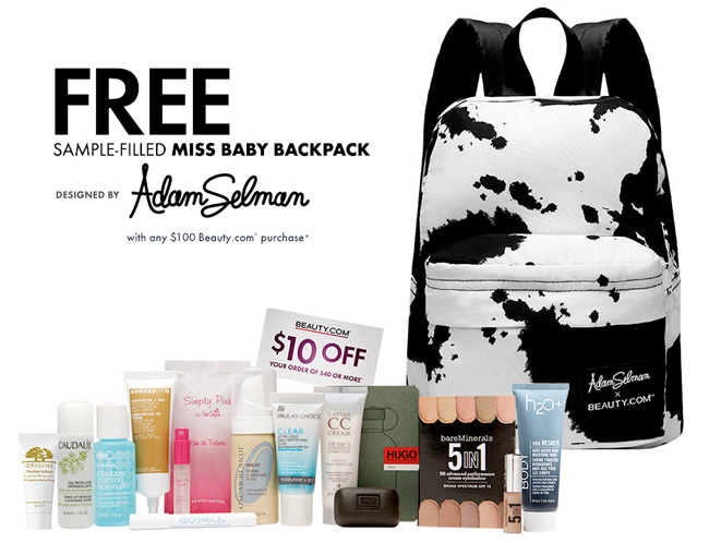 Beauty.com x Adam Selman Miss Baby Backpack GWP