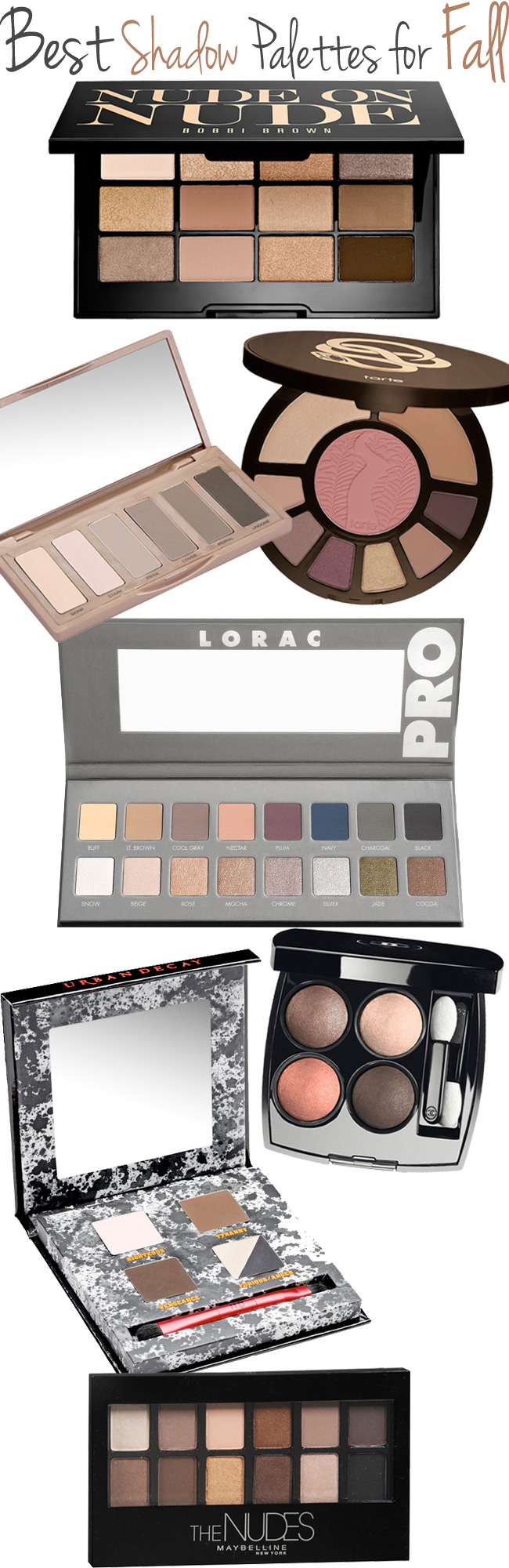 Top 7 Shadow Palettes For Fall. U2014 Beautiful Makeup Search