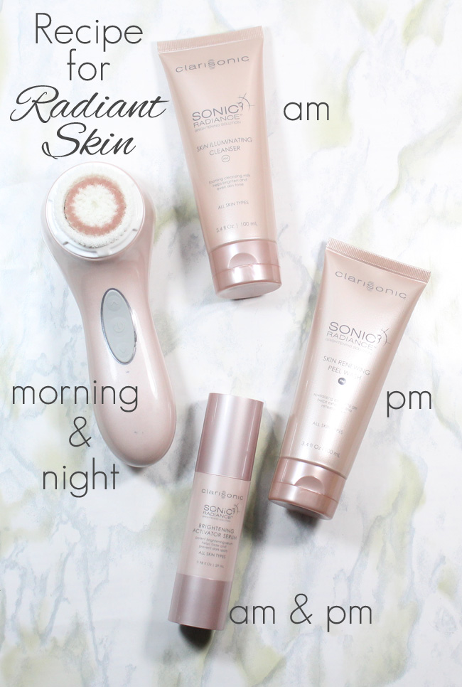The Recipe for Radiant Skin: Clarisonic Sonic Radiance Brightening Solution Kit