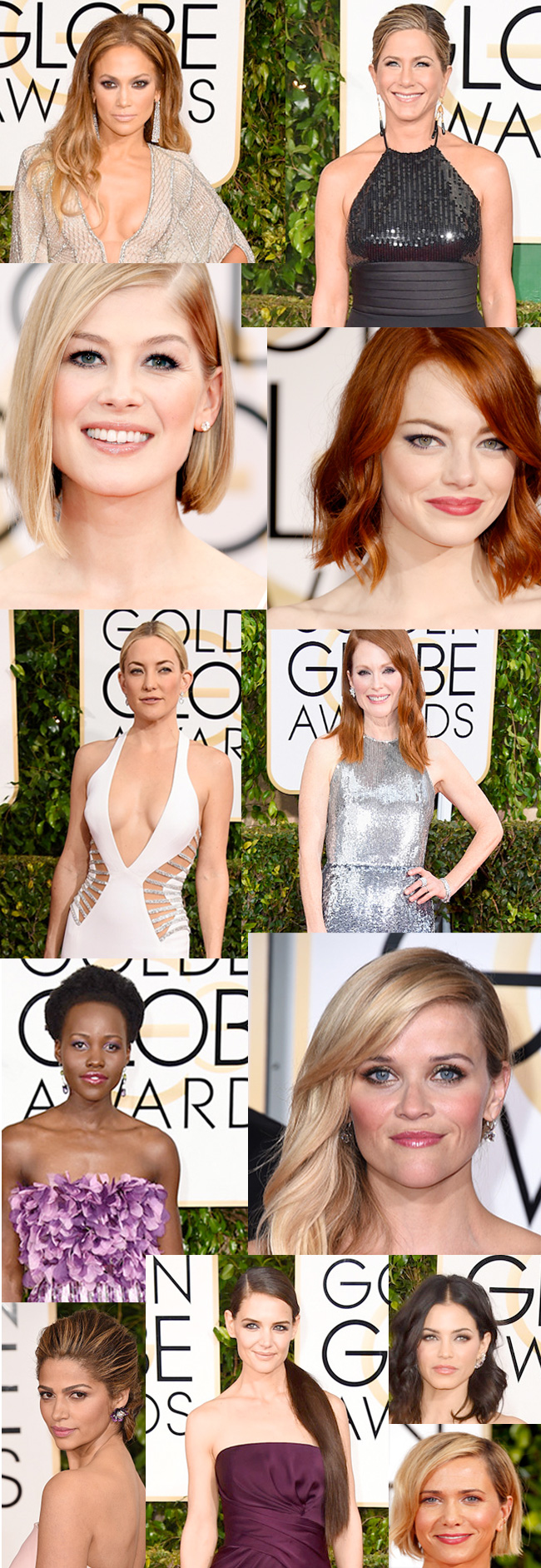 Top 12 Beauty Looks from the 2015 Golden Globe Awards. Complete hair and makeup breakdowns straight from the celebrity makeup artists and hairstylists that worked on the celebrities.