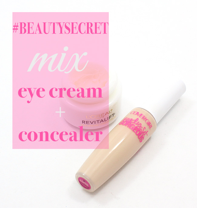 My BEST beauty secret: Mix concealer + eye cream