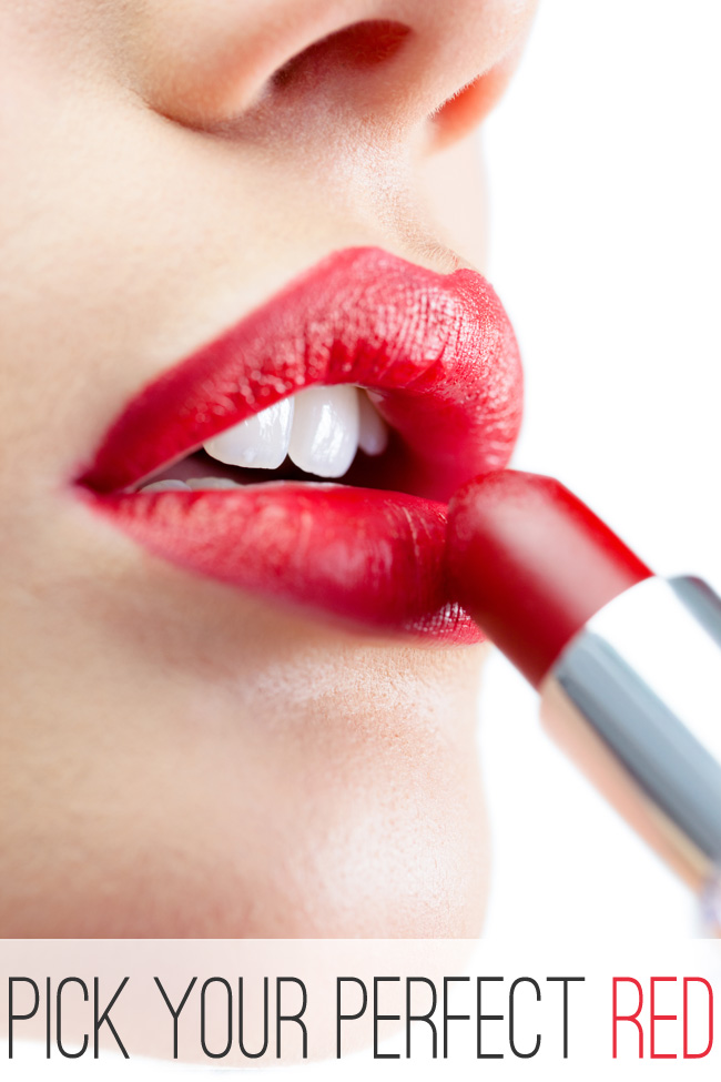 Pick Your Perfect Red Lipstick (with color suggestions)