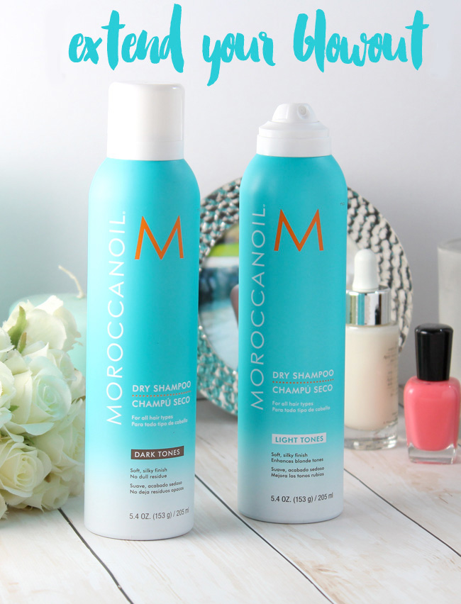 DIY: How to extend your blowout and have a great hair day with a dry shampoo like Moroccanoil NEW Dry Shampoo. It makes updos easy!