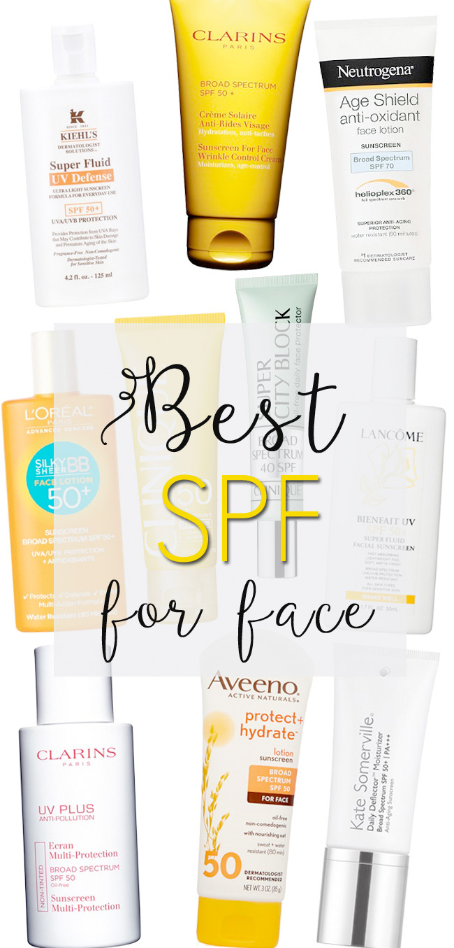 Top 10 SPF's for Face