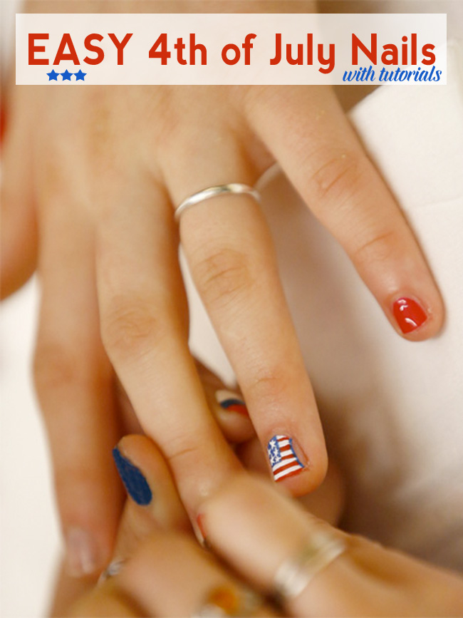 Easy 4th of July Nails with Tutorials