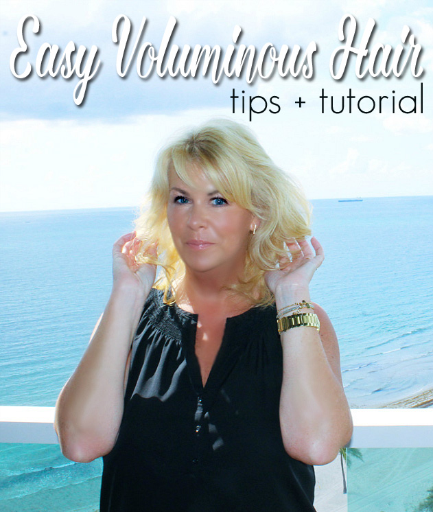 Easy Voluminous Hair Tutorial for Shoulder Length Hair #MyStyleFix
