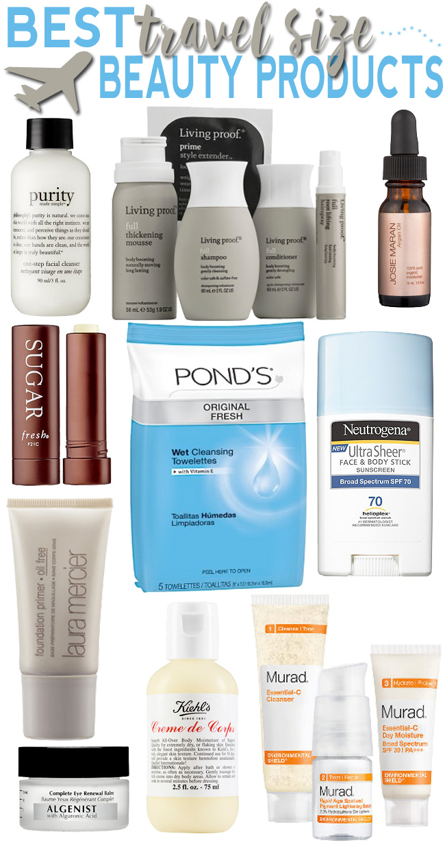 Best travel size beauty products to fit into your 3-1-1 tsa friendly bag!