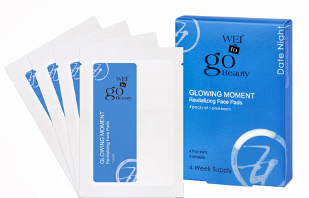 DIY At Home Spa Product: WEI To Go Glowing Moment Revitalizing Face Pads