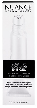 DIY At Home Spa Product: Nuance Salma Hayek Green Tea Cooling Eye Gel