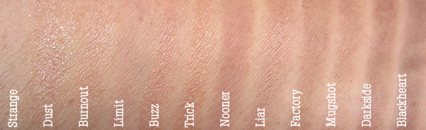 Urban Decay NAKED3 Swatches