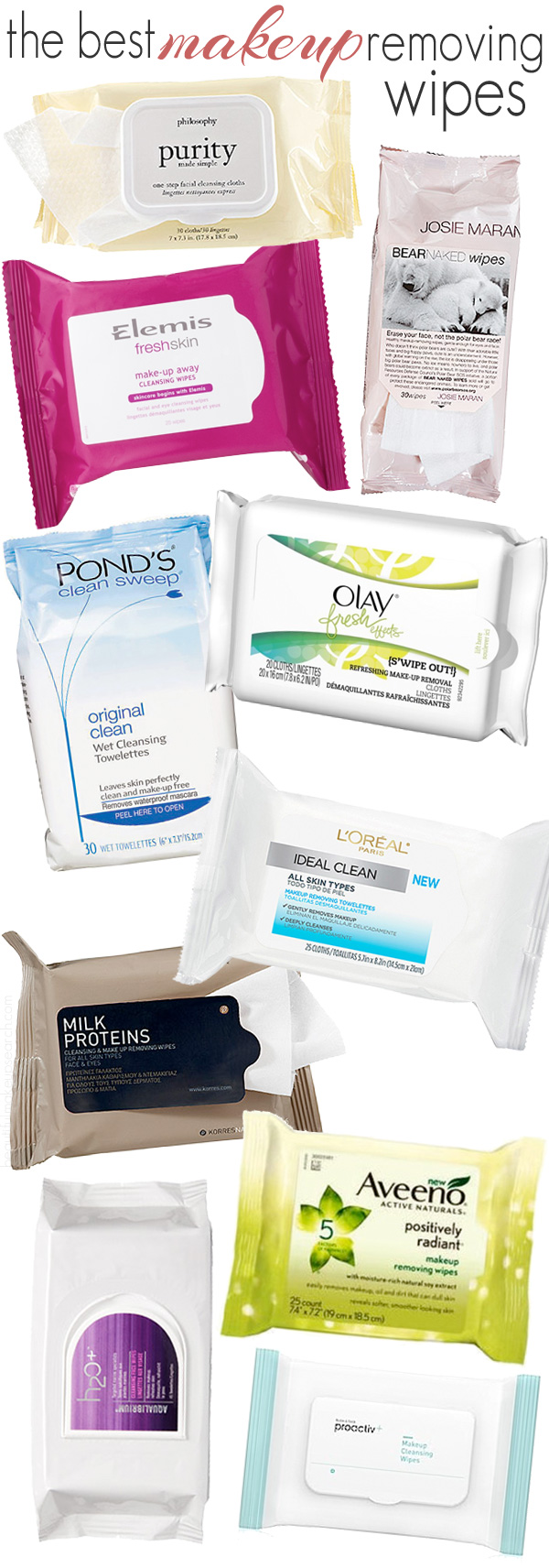 The best makeup removing wipes.